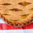 Pie on American Flag Table Cloth — Stock Photo