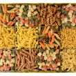 Box of Assorted Pastas — Stock Photo