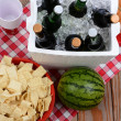 Stock Photo: Picnic Spread on Wood Deck