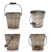 Four Views of an Old Bucket — Stock Photo