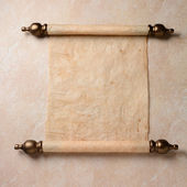 Parchment Scroll — Stock Photo