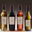 Wine Bottles With Labels Spelling Out Wine — Stock Photo #34284461