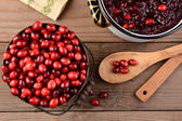 Making Cranberry Sauce for Thanksgiving — Stock Photo
