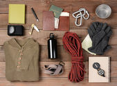 Backpacking Gear — Stock Photo