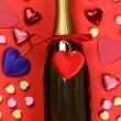 Valentines Day Candy and Champagne — Stock Photo #38202383