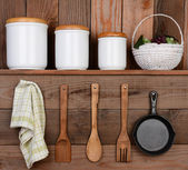 Rustic Kitchen Display — Stok fotoğraf