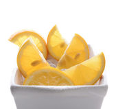 Bowl of Cut Lemons — Stock Photo