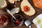 Preserves and Bread — Stockfoto