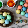 Dying Easter Eggs Horizontal — Stock Photo #44003317