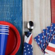 Fourth of July Picnic Table Setting — Stock Photo #44003455