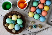 Dying Easter Eggs Horizontal — Stock Photo