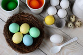 Dying Easter Eggs — Stock Photo
