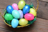 Easter Baskets and Plastic Eggs — Stock Photo