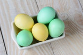 Easter Eggs in Recatngle Bowl — Stock Photo