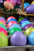 Easter Egg Carton Closeup — Stock Photo