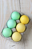 Six Pack of Easter Eggs — Stock Photo