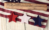 Constitution Flag and Stars — Stock Photo