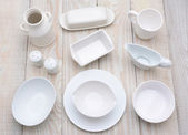 White Dinnerware — Stock Photo