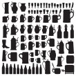Beerware silhouettes — Stock Vector #18521033