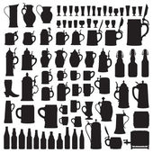 Beerware silhouettes — Stock Vector