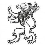 LION Heraldic Stylized 01 — Stock Vector #50233209