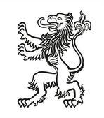 Leone araldico stilizzato 01 — Vettoriale Stock
