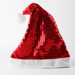 Santa Claus red hat isolated on white — Foto Stock