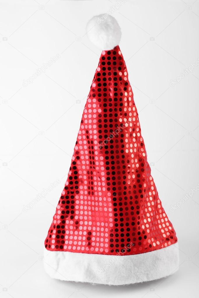 Single Santa Claus red hat isolated on white background  — Stock Photo #15705051