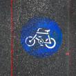 Bicycle Road Sign — Stockfoto