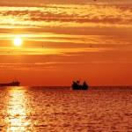 Beautiful sunrise over the horizon — Stock Photo