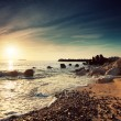Beautiful sunrise above the sea — Stockfoto