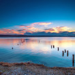 Sunset Over the lake - Foto Stock