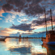 Boats and sunset — Lizenzfreies Foto