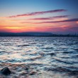 Sunset Over the lake — Stock fotografie