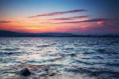 Tramonto sul lago — Foto Stock