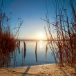 Sunset Over the lake — Stockfoto
