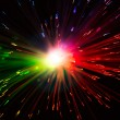 Multicolor optical fiber lighting — Stock Photo