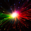 Multicolor optical fiber lighting — Stock Photo #26421903