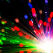 Close op of fiber optics — Stockfoto