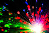 Close op of fiber optics — Stock Photo