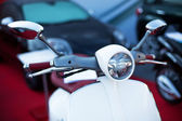 Motorcycle and defocused background — Stock Photo