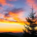 Sunrise over the mountains — Stock Photo