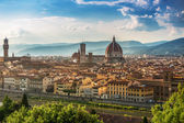 Cathedral Santa Maria del Fiore in Florence Skyline City, Tuscan — Stok fotoğraf