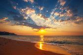 Beautiful cloudscape over the sea, sunbeam — Stock fotografie
