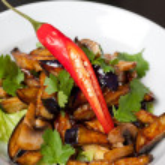 Salad from roasted eggplants — Stock Photo #12763177