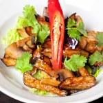 Salad from roasted eggplants — Stock Photo #12812158