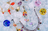 драгоценности на льду — Стоковое фото