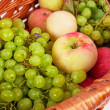Apples and grapes - Stock Photo