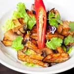 Salad from roasted eggplants — Stock Photo #13595655