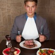 Stock Photo: Eat a beef steak